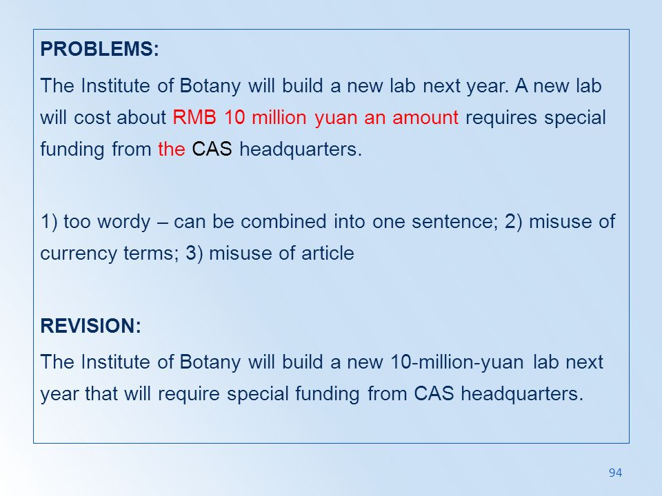 PROBLEMS: The Institute of Botany will build a new lab next year