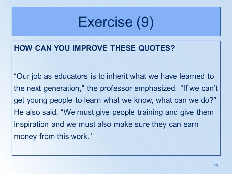 Exercise (9)