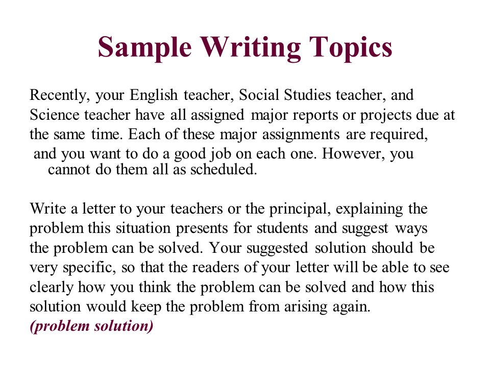 topic to write about essay