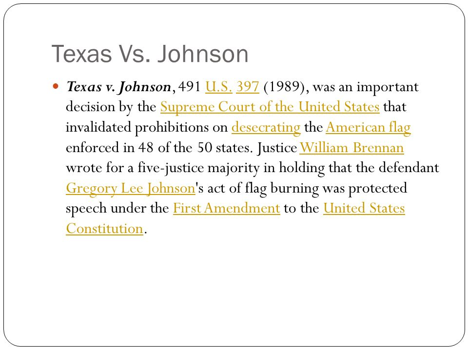 justice brennans opinion in texas vs johnson Sears posts 1st-quarter profit vs loss (may 18,  a lawyer with the brennan center for justice at new york university chool of law,  what is your opinion.
