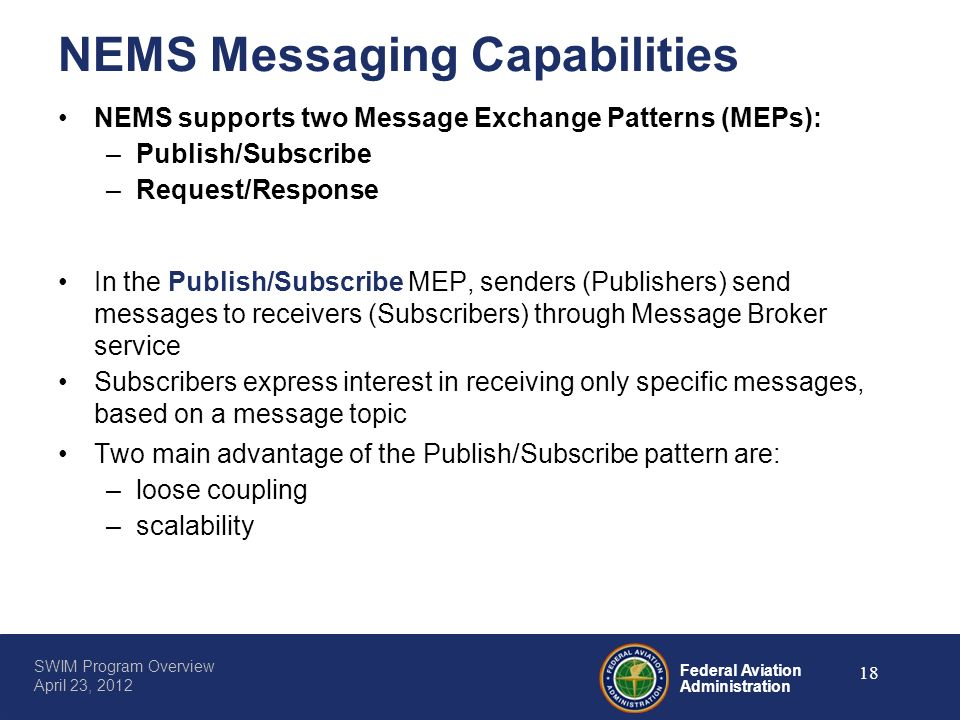 NEMS Messaging Capabilities