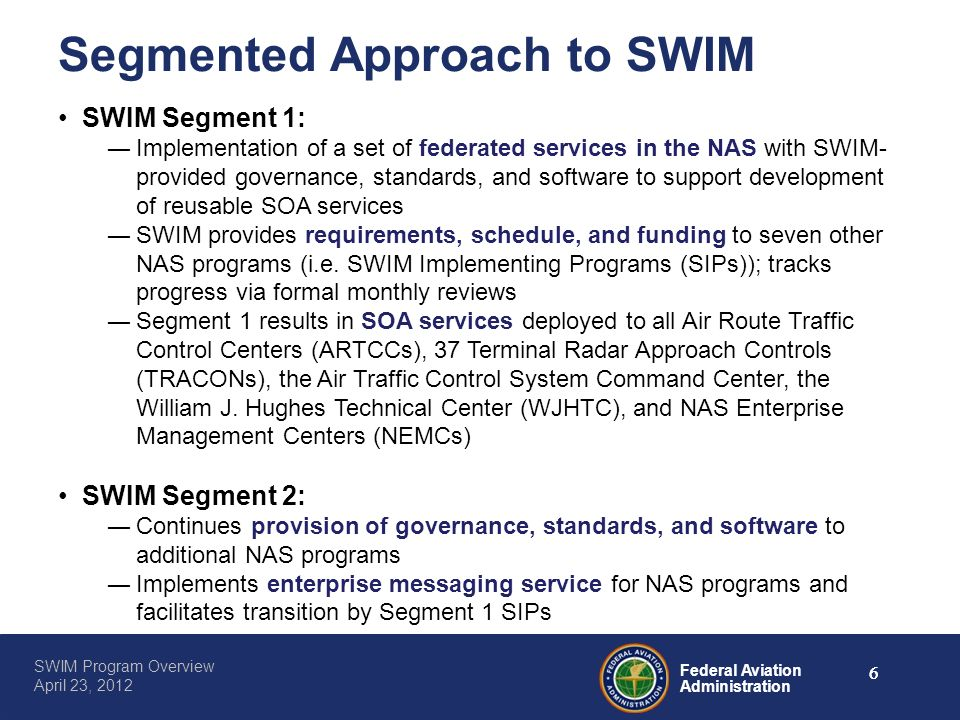 Segmented Approach to SWIM
