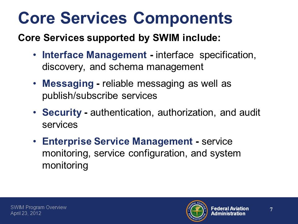 Core Services Components