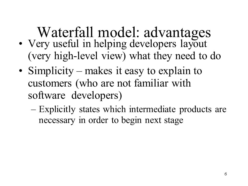 Modelling the process and life cycle ppt video online for Waterfall methodology advantages and disadvantages