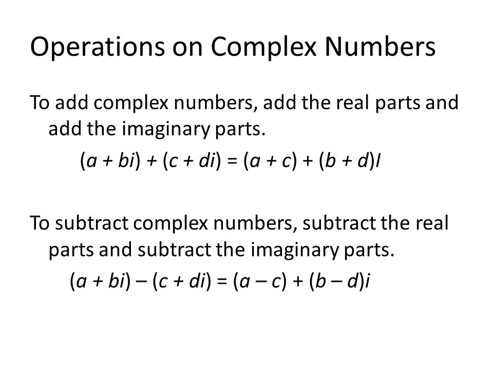 Sec 34 Sec 35 Complex Numbers Complex Zeros ppt download – Operations with Complex Numbers Worksheet