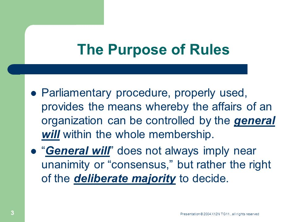 a summary of parliamentary procedure Parliamentary procedures, page 2 these may be established as standing rules or may be enacted by a motion, with a two-thirds vote needed they.