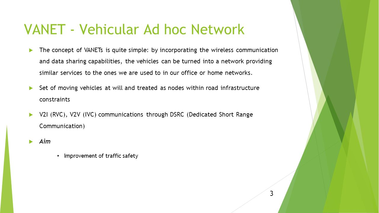 vehicle ad hoc network vanets technology This paper starts with an overview of vehicular ad hoc networks (vanets)  international journal of vehicular technology is a peer  domain and in vehicle ad hoc.