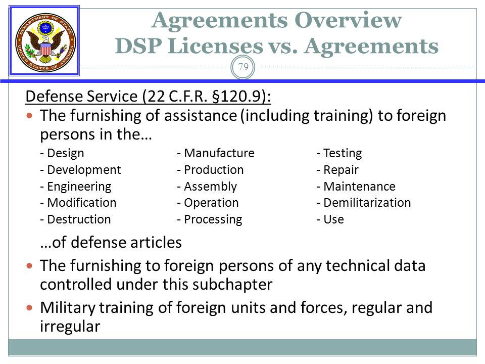 State department export controls deputy director of licensing 79 agreements platinumwayz