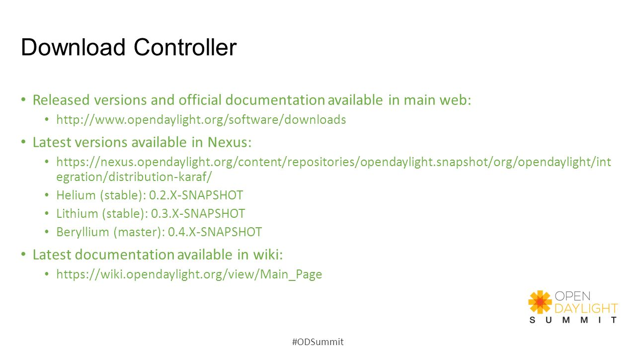 Download Controller Released versions and official documentation available in main web: