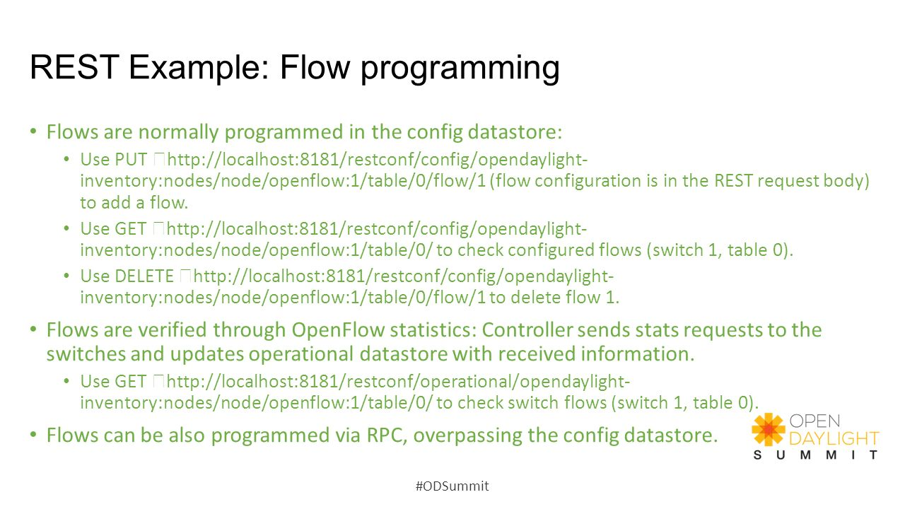 REST Example: Flow programming