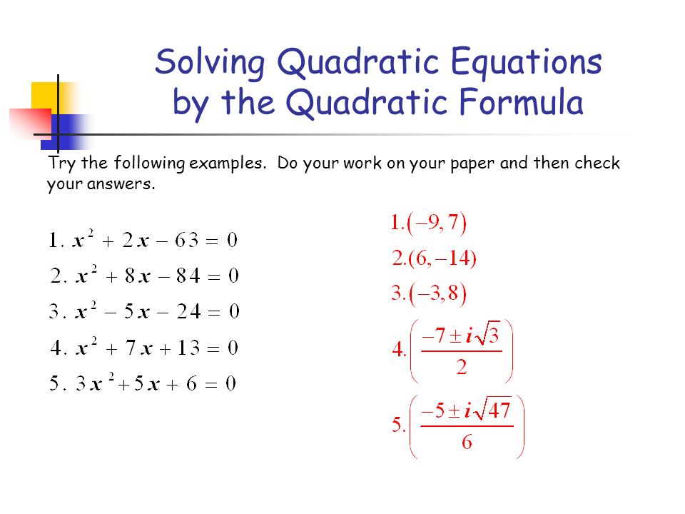 quadratic function presentation essay example Sample problem: generate 10 quadratic equations by randomly selecting integer   pencil and paper summative assessment on expectations from this unit not  covered in the  424 function aerobics powerpoint presentation file (teacher .
