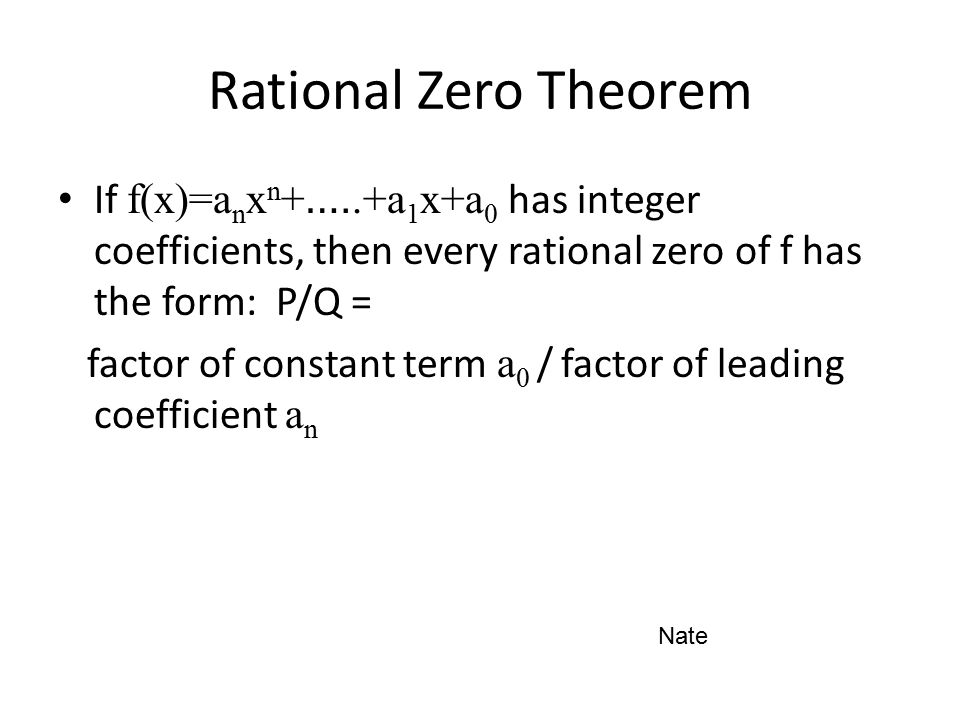 how to use rational zero theorem