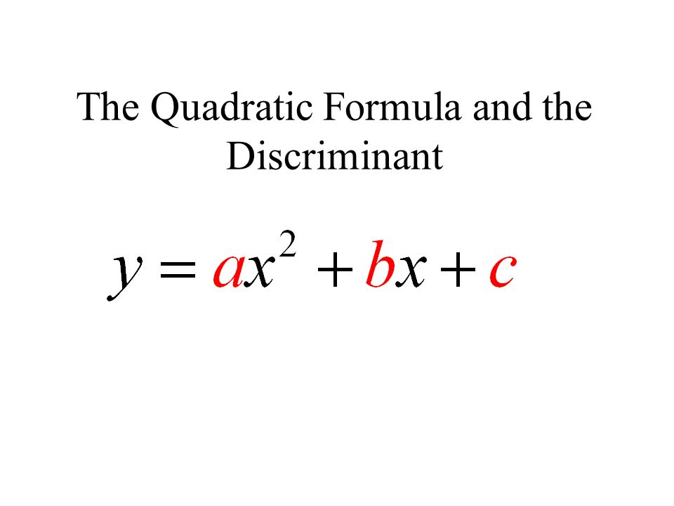 The Quadratic Formula and the Discriminant ppt video online download – The Quadratic Formula and the Discriminant Worksheet