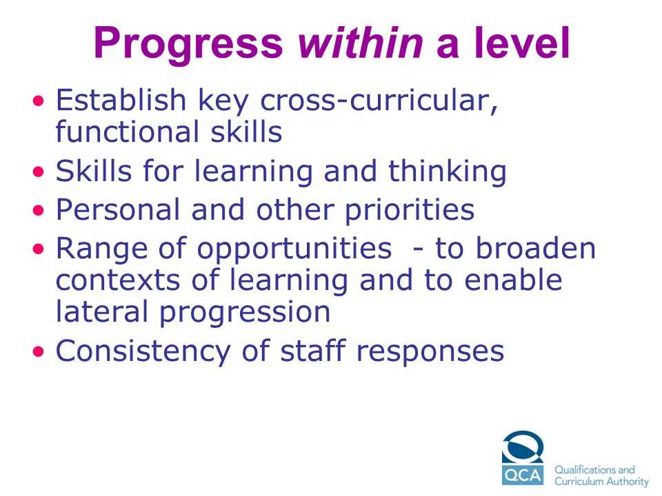 Progress within a level