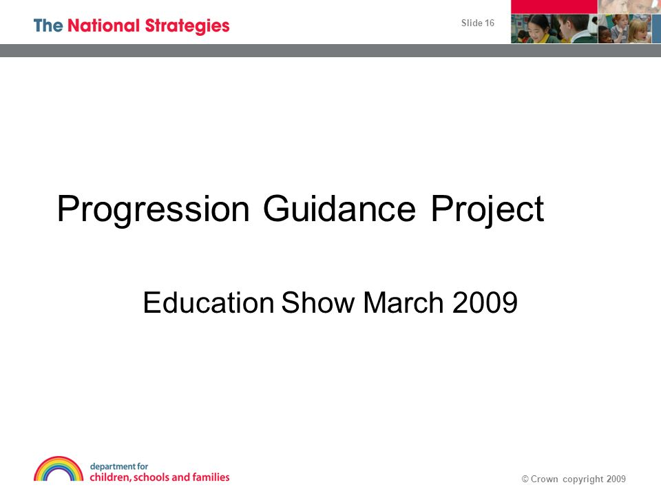 Progression Guidance Project