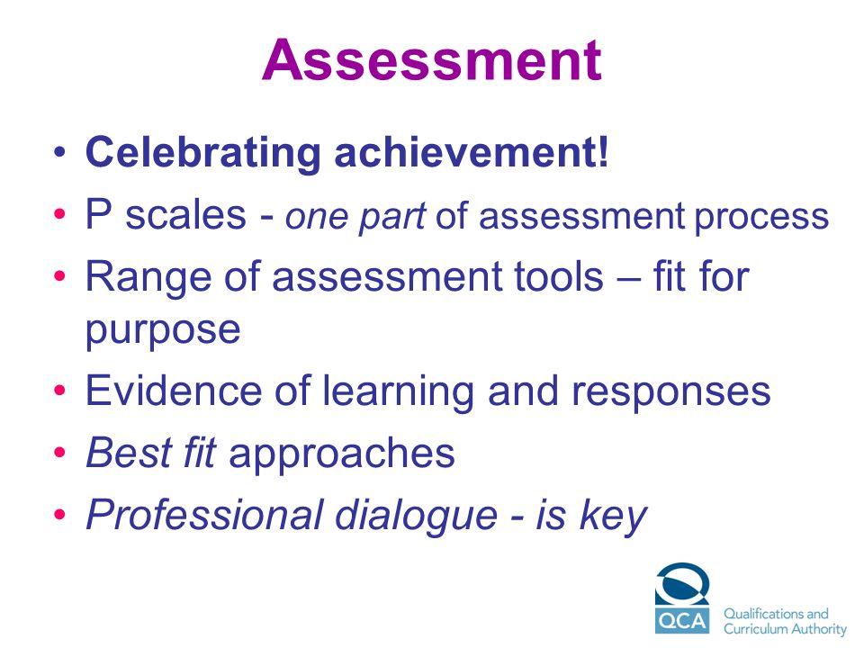 Assessment Celebrating achievement!