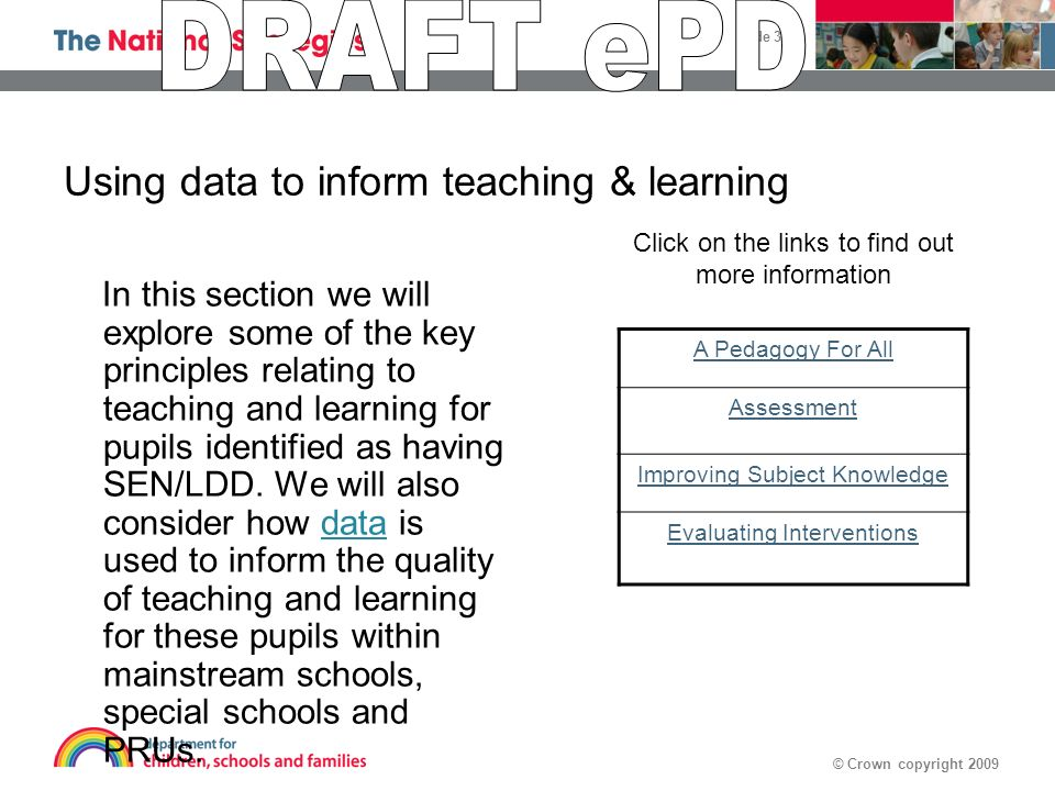 Using data to inform teaching & learning