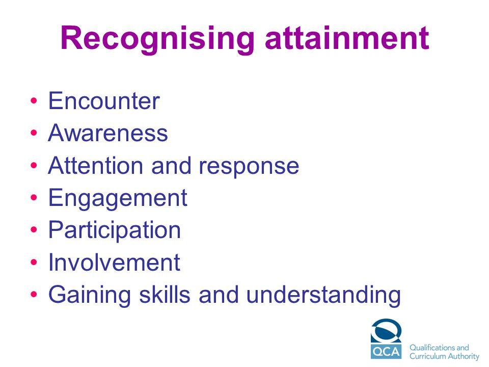 Recognising attainment
