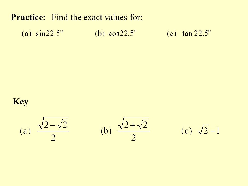 how to find exact value of sin 20