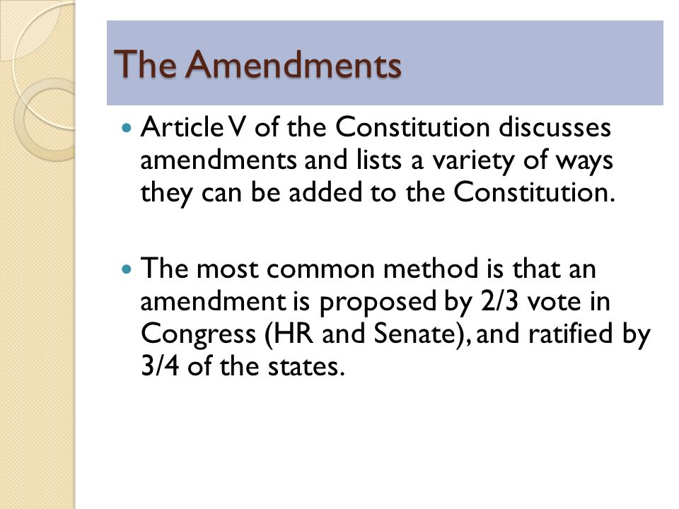 article four regarding a constitution