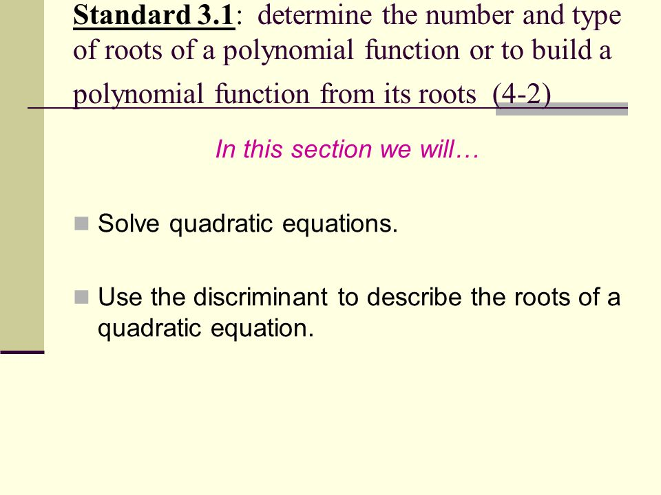 how to find the discriminant of a polynomial