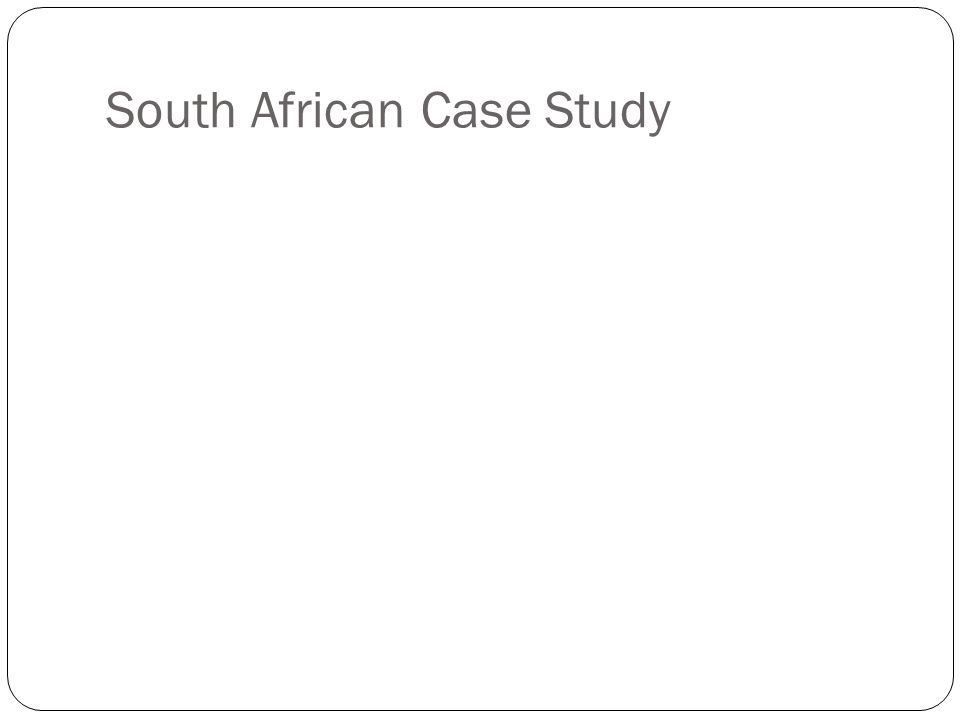 poverty case study south africa Poverty and inequality in south africa  the second carnegie conference held in 1983 examined the poverty amongst south africa's black  this study.