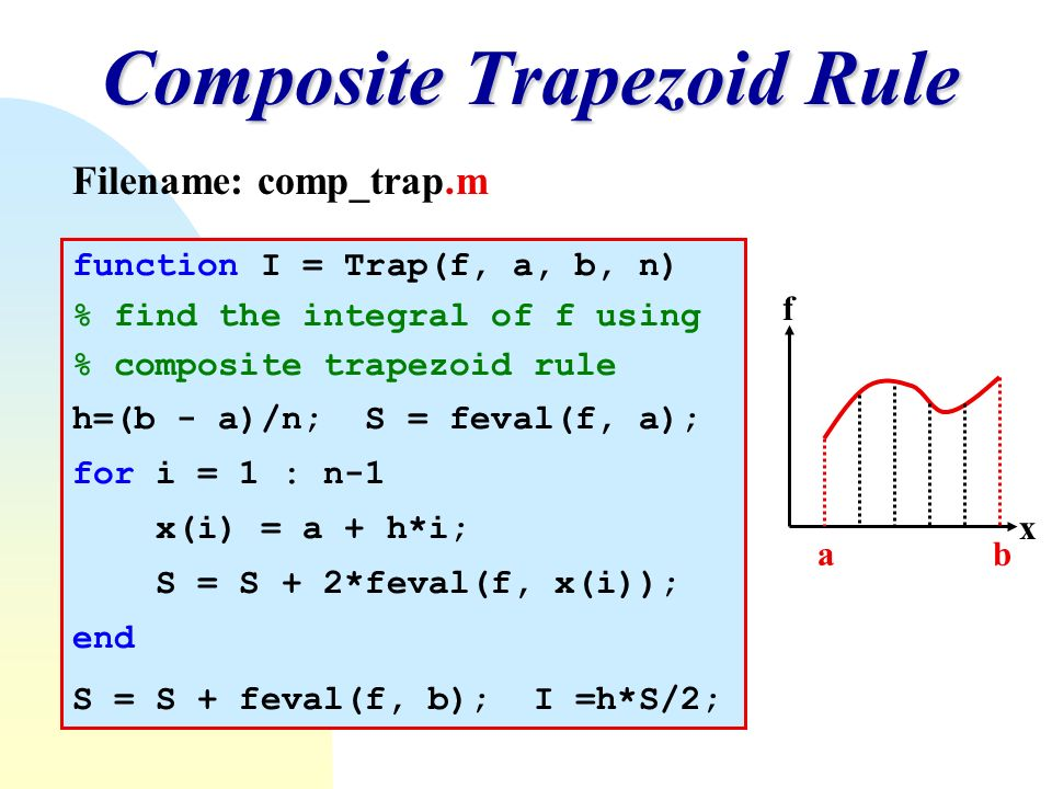 how to use trapezoidal rule in matlab
