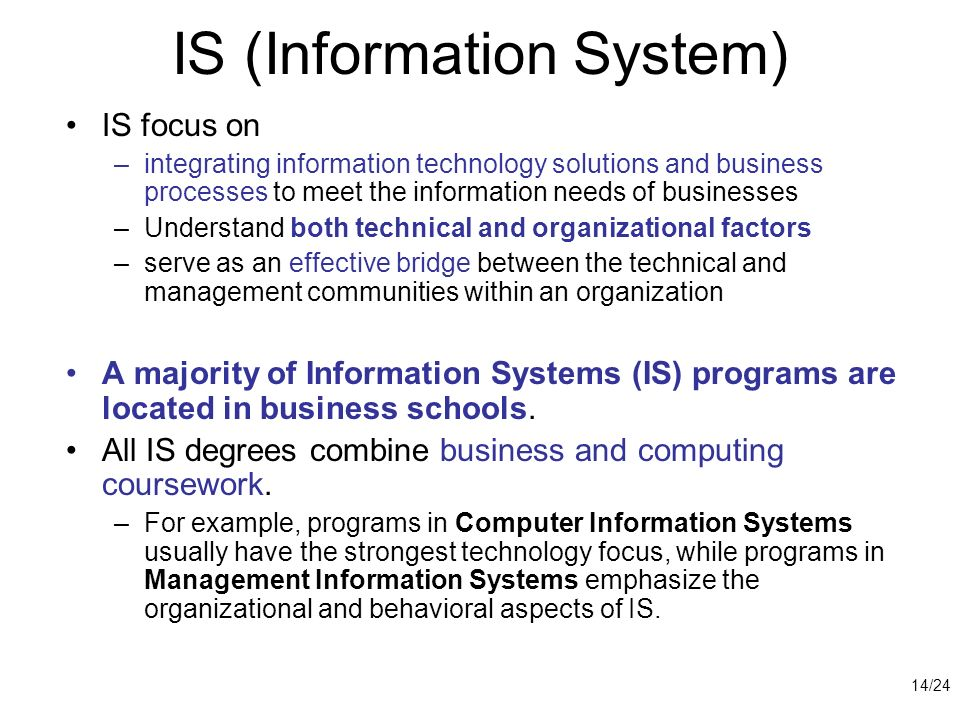 IS (Information System)