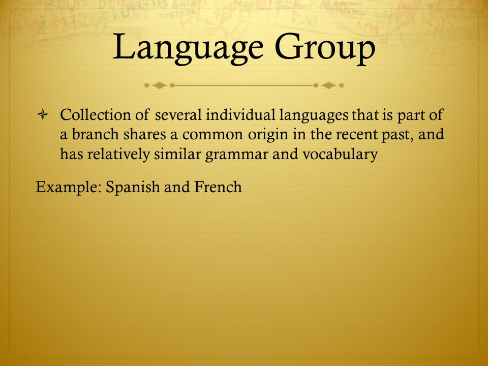 Language Group