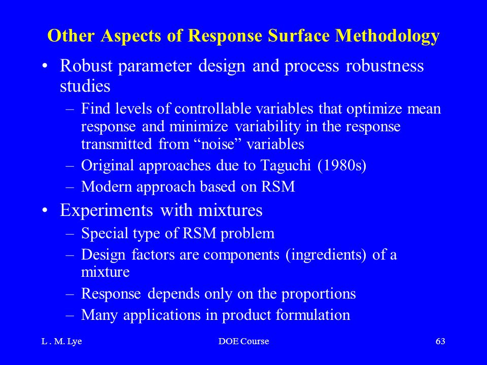 analysis of response surface methodology rsm Casos - center for computational analysis of social and organizational  systems 1  keywords: response surface methodology (rsm), regression  analysis,.