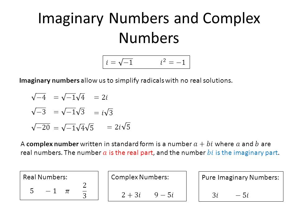 Standard Form For Imaginary Numbers Heartpulsar