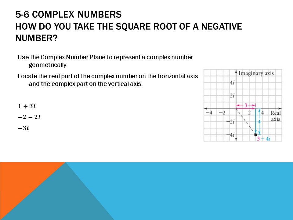 Algebra 2 chapter 5 quadratics ppt download 5 6 complex numbers how do you take the square root of a negative number ccuart Choice Image