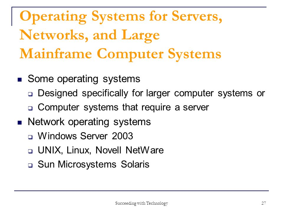 an overview of the network operating systems in computer technology Network and computer systems administrators earn a median annual wage of $75,790 while network architects bring in $98,430 per year, states the bls as of may 2014 educational requirements you'll generally need at least an associate's degree in networking technology or a related field for entry-level employment as a networking technician.