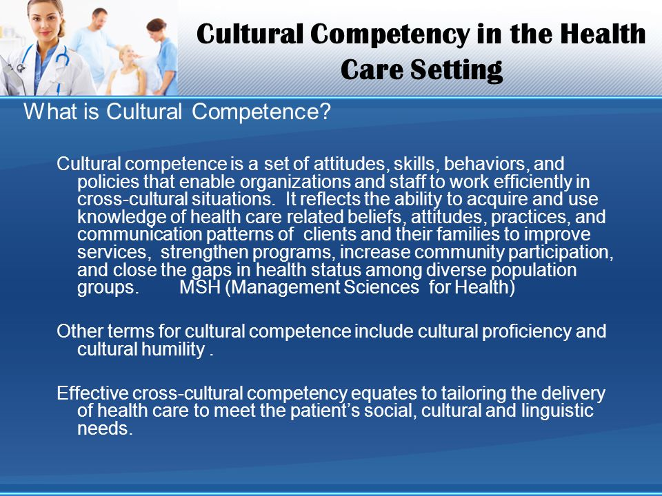 cultural competency of nursing Standards of practice for culturally developed a set of standards for cultural competence in nursing standards of practice for culturally competent nursing.