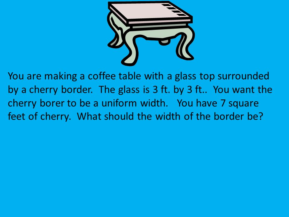 You Are Making A Coffee Table With A Glass Top Images Table Design
