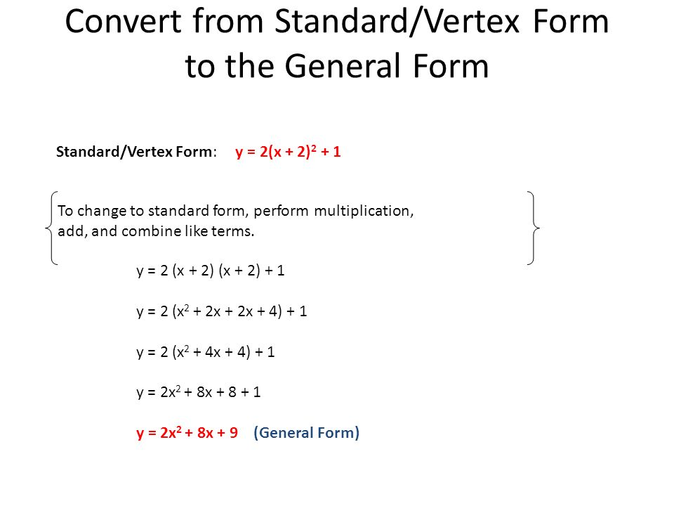 2.1 Graphs of Quadratic Functions - ppt video online download