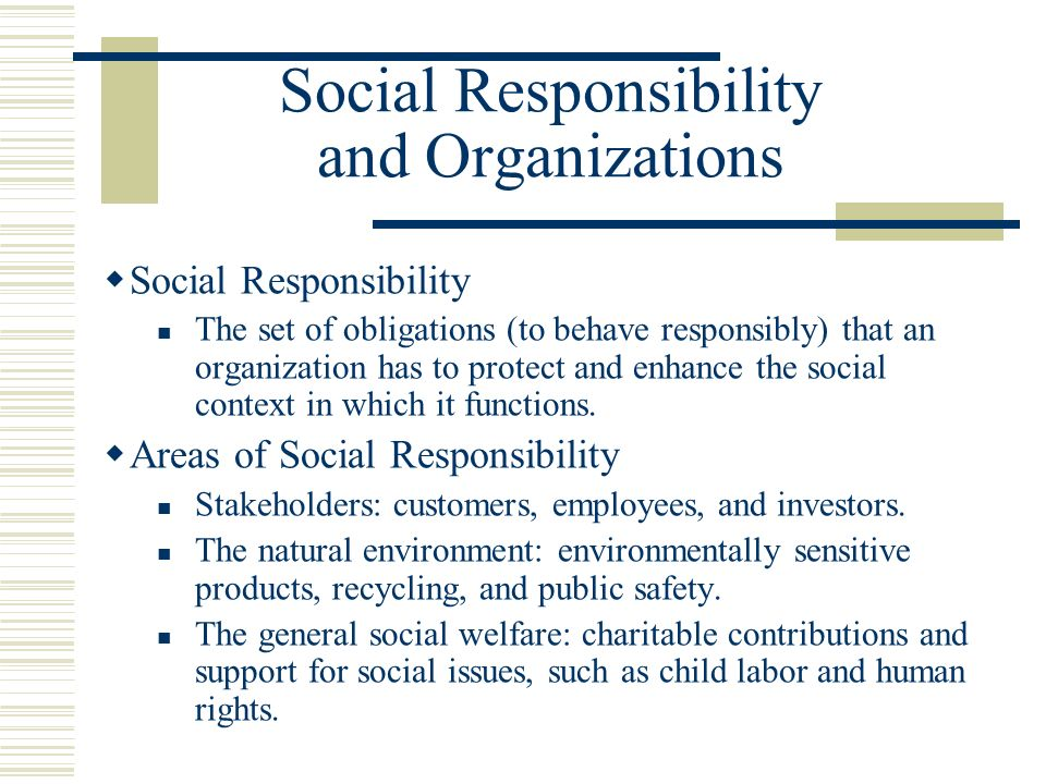 human behavior organization social responsibility Chapter 4 vocab - chapter4: 1 accommodative strategy a a company's social responsibility not to violate management and human behavior in organizations part.