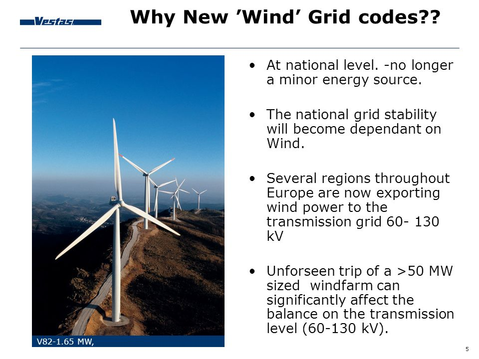 Why New 'Wind' Grid codes