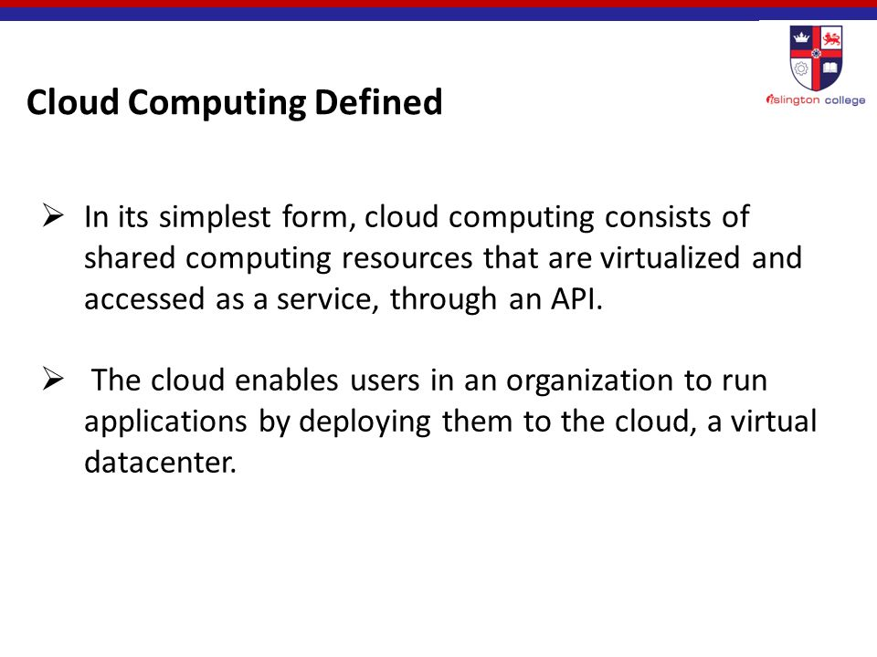 "Definition ""Cloud computing is an emerging computing technology ..."