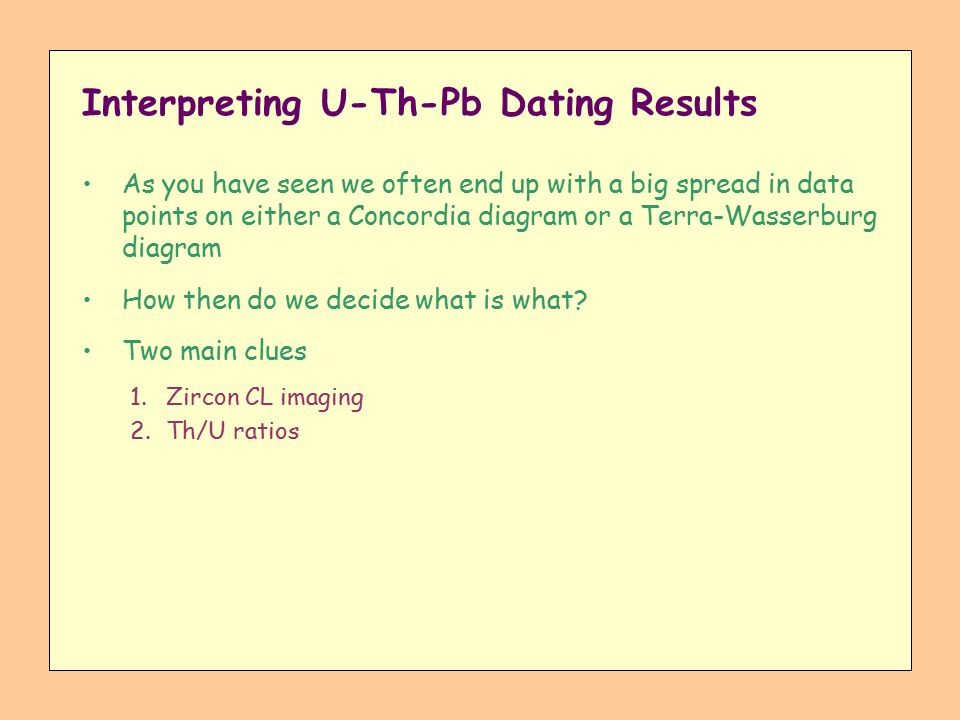 U th pb dating