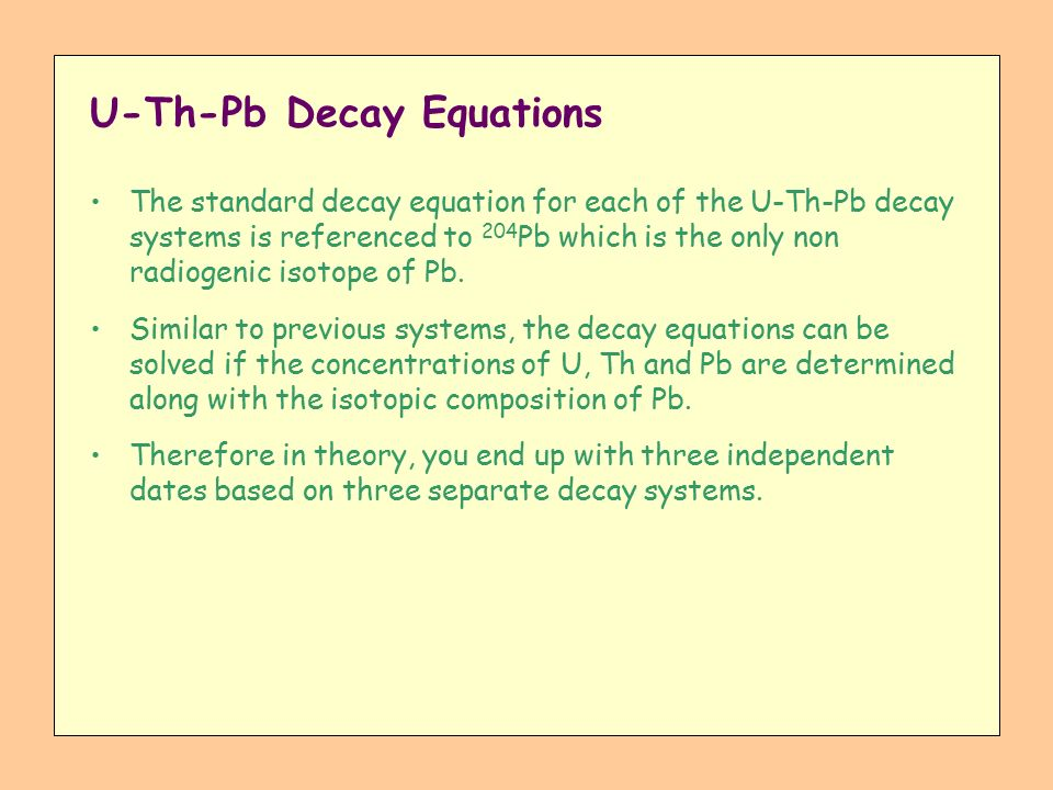 u-pb dating equation