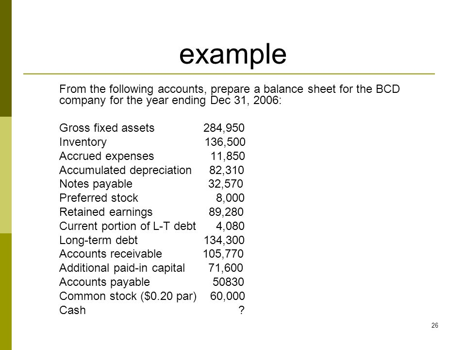 FI Corporate Finance Leng Ling ppt download – Prepare a Balance Sheet