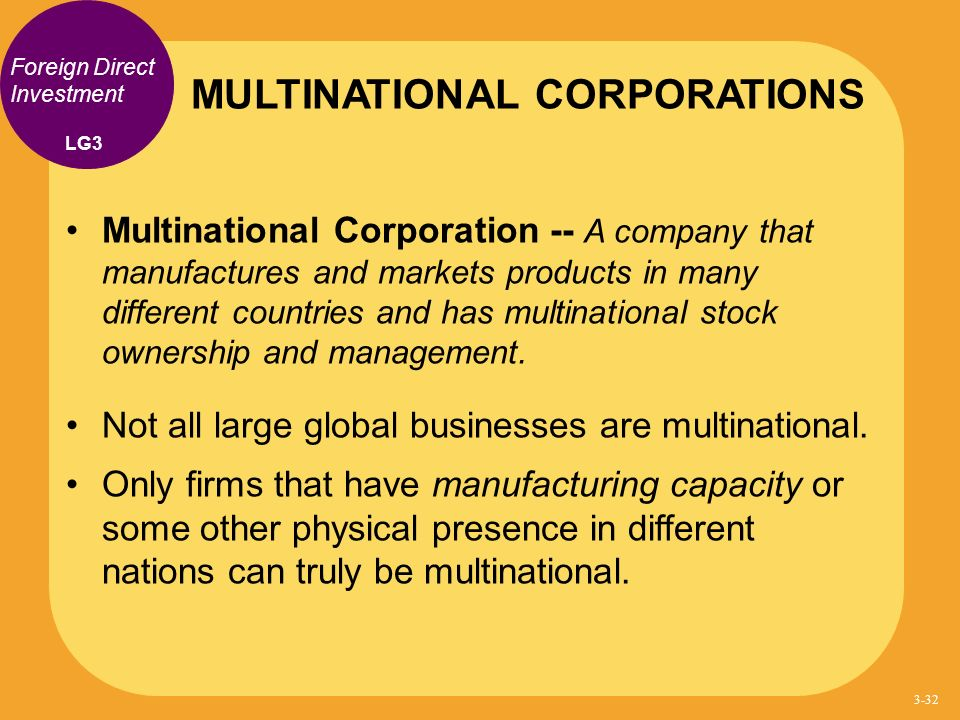 Global strategies for the multinational corporation essay