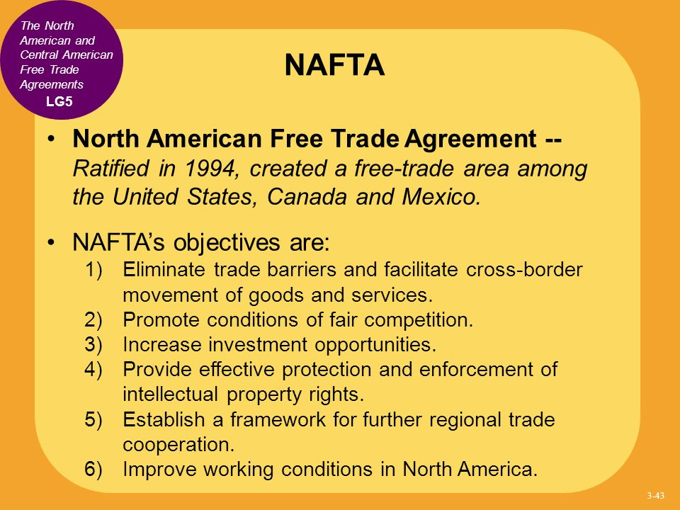 the benefits of the north american free trade agreement