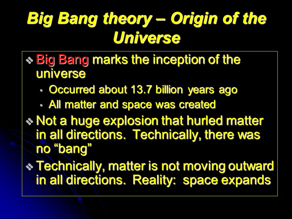 the theories explaining the creation of the universe Overall, the resulting description of the history of the universe is  standard  model which could not only explain dark matter but at the same time.