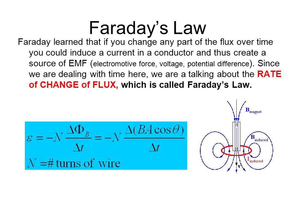 faradays law of induction Suppose, instead of flowing counterclockwise, the induced current flows  clockwise: then the force will be towards the right which will accelerate the bar to  the.