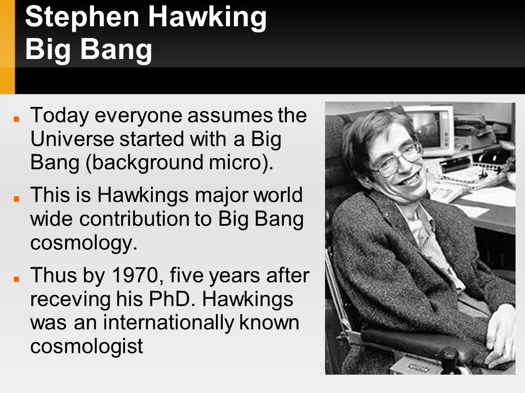 Speech, Essay on Stephen Hawking