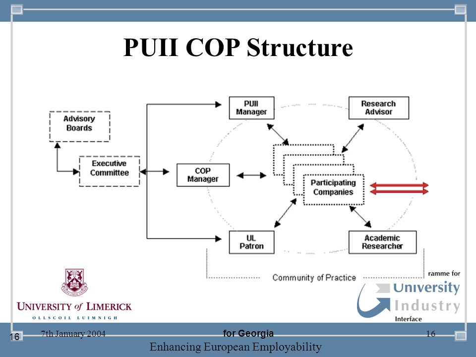 PUII COP Structure 7th January 2004 for Georgia 16
