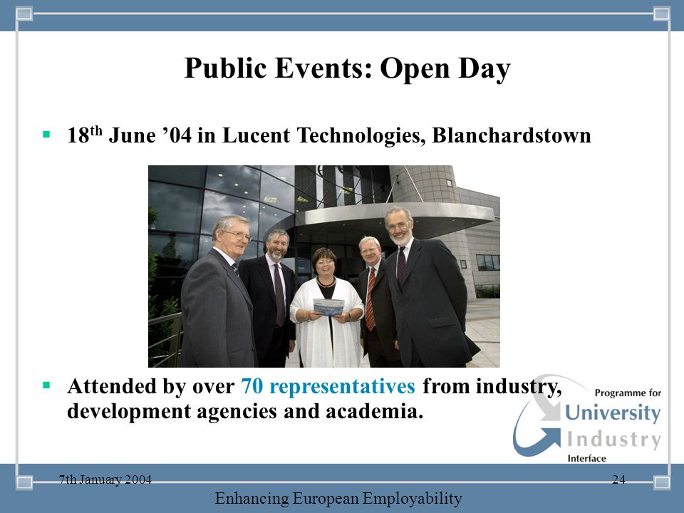 Public Events: Open Day