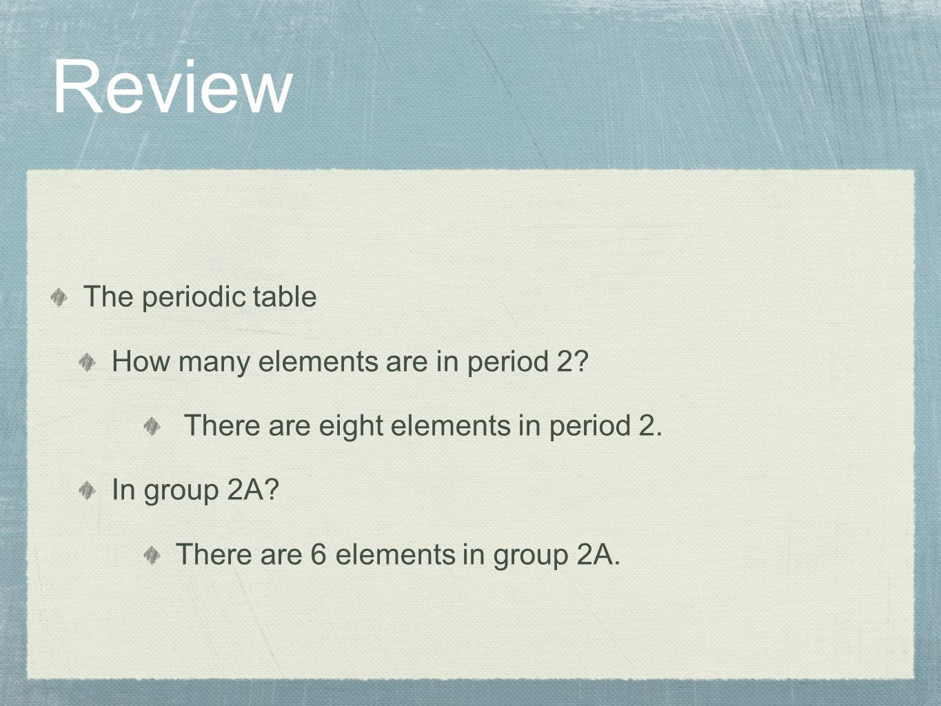 Chemistry chapter 4 atomic structure wilbraham staley matta review the periodic table how many elements are in period 2 gamestrikefo Gallery